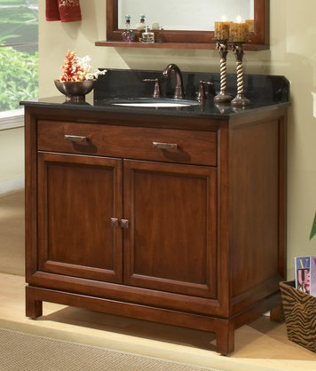 "Modena 30"" Solid Maple Wood Bathroom Vanity Cabinet md3021d from Sagehill Designs"