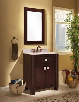 "Portafino 30"" Solid Oak Bathroom Vanity PF3021D from Sagehill Designs"