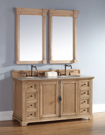 "Providence 60"" Unfinished Bathroom Vanity In Natural Oak 238-105-5621 from James"