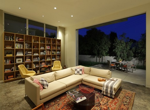 Converting a garage gives you the opportunity to build a living area that perfectly matches your family's needs (by KKC Fine Homes, photo by Erhard Pfeiffer)