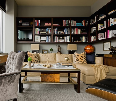 half sized bookshelves mounted to the wall add functionality without taking up floor space or forcing - Wall Sized Bookshelves