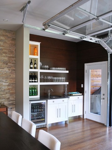 If you want to have lights, running water, internet, or TV in your converted garage, running utilities into the space needs to be a priority in your design (by Tanner Vine - 2Go Custom Kitchens Inc)