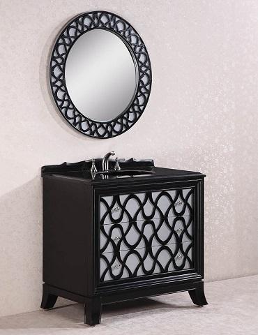 "Legion Furniture 38"" Solid Wood Bathroom Vanity WH2838"