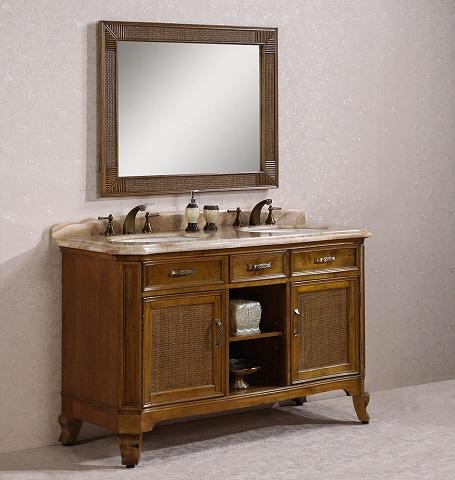 "Legion Furniture 60"" Solid Wood Bathroom Vanity WH3660"