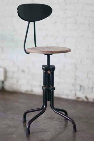 V19E-B Reclaimed Dining Stool HGDA141 From Nuevo Living