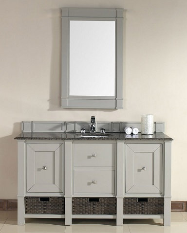 "Madison 60"" Single Bathroom Vanity Cabinet in Dove Gray 800-V60S-DVG from James Martin Furniture"