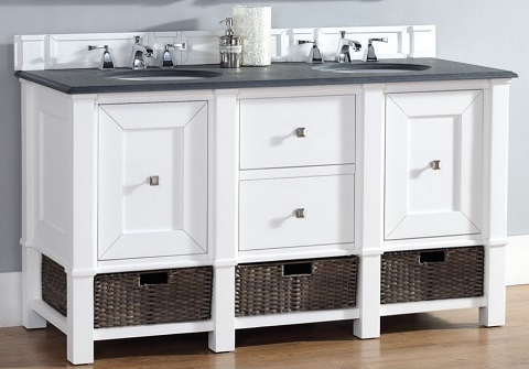 "Madison 60"" Double Vanity In Cottage White 800-V60D-CWH from James Martin"