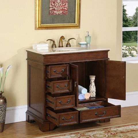 "36"" Bathroom Vanity HYP-0212-36 from Silkroad Exclusive"