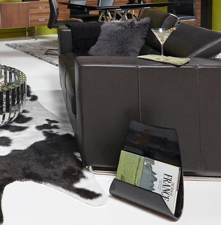 Cavalli Magazine Rack in Black from Bellini Modern Living