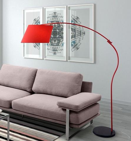 Derecho Floor Lamp 50155 in Red from Zuo Modern