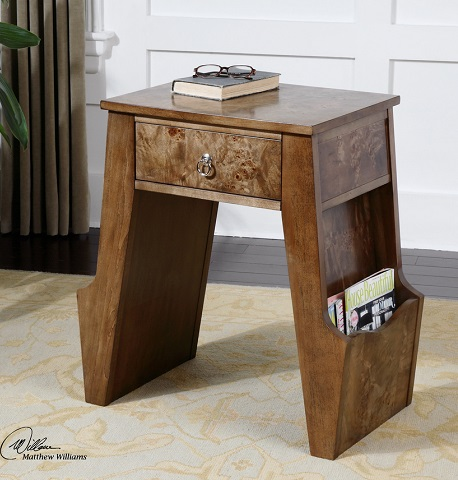 Dinsmore Wooden Magazine Table 24399 from Uttermost