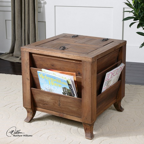 Rimmon Wooden Side Table 24343 from Uttermost