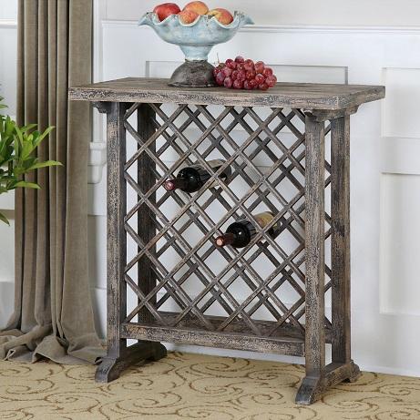 Uttermost Annileise Wooden Wine Table 24354