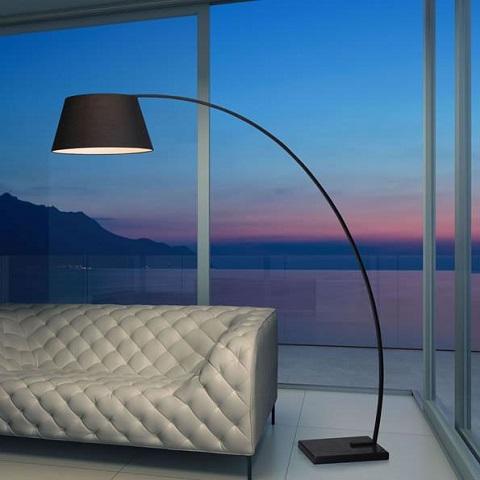 Vortex Floor Lamp 50074 in Black from Zuo Modern