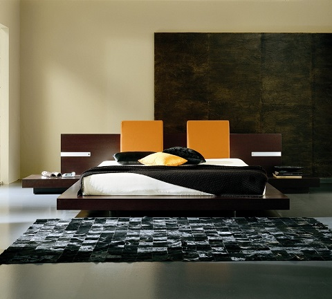 Win Wenge King Sized Bed T2666BBA83206 from Rossetto