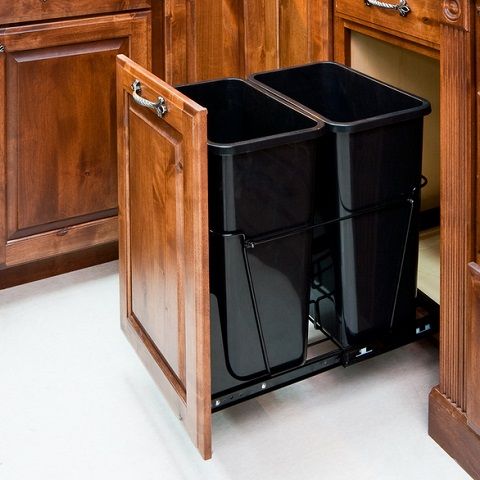 Bottom Mount Pull Out Trash Can System CAN-EBMDB-R from Hardware Resources