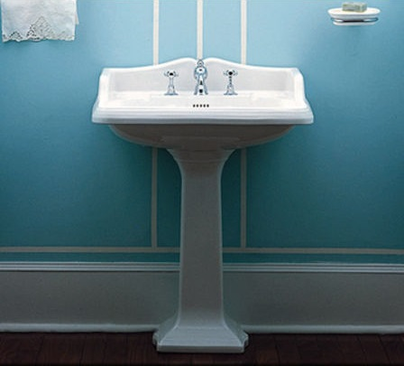 "China Series 28"" Traditional Pedestal Sink AR834-AR805 from Whitehaus"
