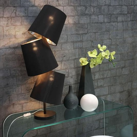 Cosmology Table Lamp 50072 in Black from Zuo Modern