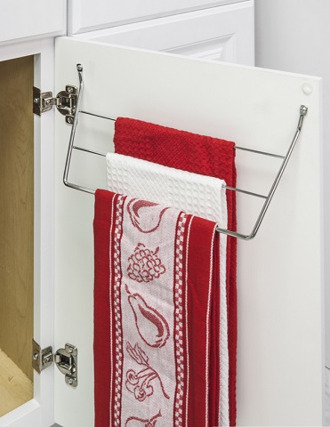 Dish Towel Holder in Chrome DTH-PC-R from Hardware Resources