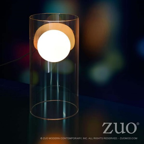 Eruption Table Lamp 50080 in Clear from Zuo Modern