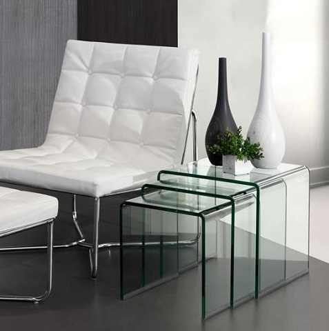 Explorer Nesting Table 404104 in Clear from Zuo Modern