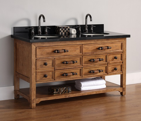 "James Martin Solid Wood 60"" Malibu Double Bathroom Vanity 500-V60D-HON"