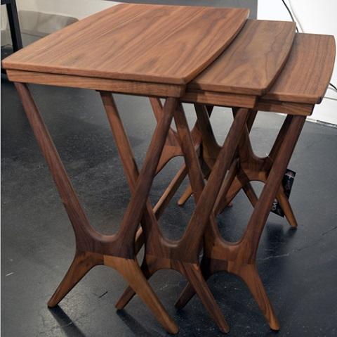 Josef Nested Side Table in Walnut HGEM481 from Nuevo Living