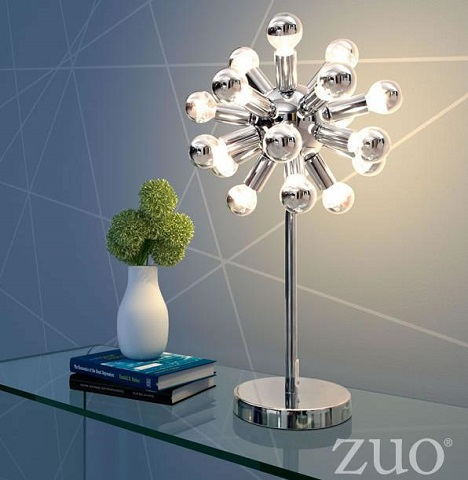 Pulsar Table Lamp 50007 in Chrome from Zuo Modern