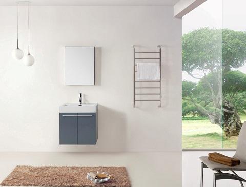 """Rever Lofts 24"""" Gray Bathroom Vanity JS-50124-GR from Virtu"""