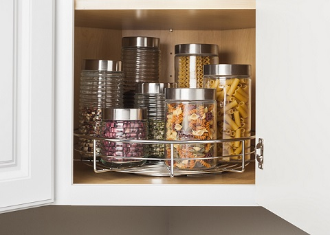 """Round Metal 18"""" Lazy Susan MLSR18-S-R from Hardware Resources"""