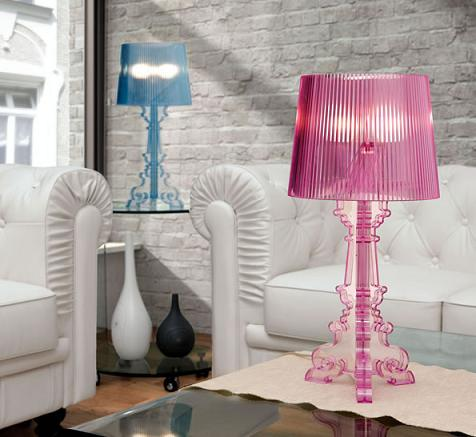 Salon S Table Lamp In Purple And Blue From Zuo Modern
