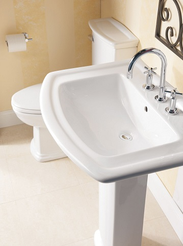 Washington Vitreous China Pedestal Sink 3-398WH 550 From Barclay