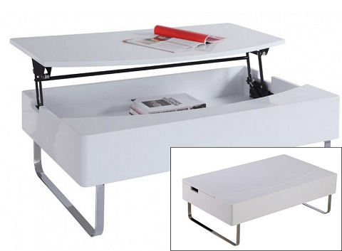 Bay Storage Coffee Table CT1126-WHT from Whiteline Imports