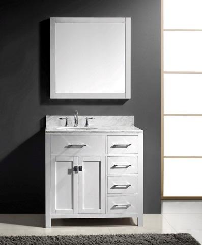 "Caroline Parkway 36"" Single Bathroom Vanity in White from Virtu USA"