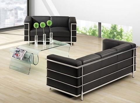 Discovery Coffee Table 404102 in Clear from Zuo Modern