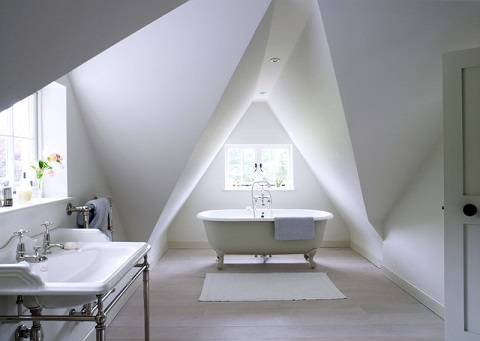 The more unusual the shape of the roof, the more difficult it will be to design around - but also the more potential it has as a striking architectural feature (by Thorp Design)