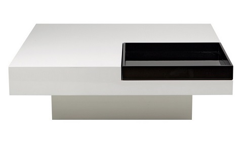 Tiffany Coffee Table Rectangle CT1116R-BLK-WHT from Whiteline Imports