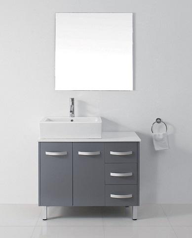 "Ultra Modern 36"" Gray Bathroom Vanity Set from Virtu USA"