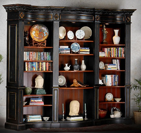 Buckingham Library Bookcase In Black From AFD