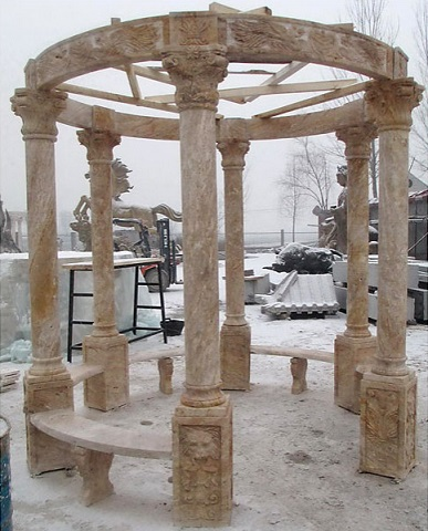Home Gold Travertine Gazebo MAR5-G60-GLD from AFD