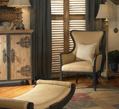 Uttermost Zander Wing Chair 23051 Accent Furniture