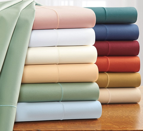 500 Thread Count Italian Percale Cotton Sheets Z3750-30 from Cuddledown