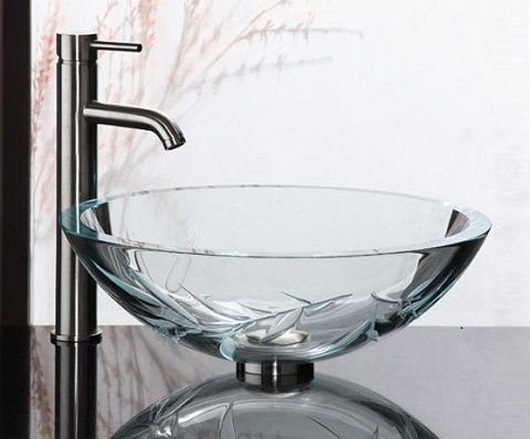 Bamboo UltraGlass Vessel Sink GV101SFB from Ryvyr