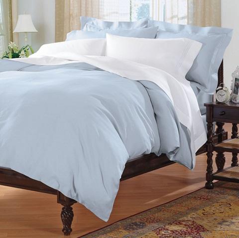 Blue Italian Plain-Sewn Linen Sheets Z2260-30 from Cuddledown