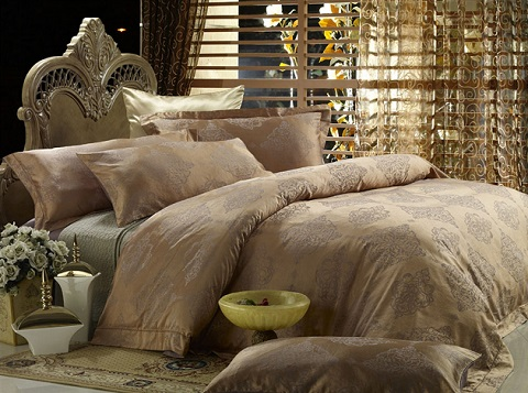Golden Age King Sized Jacquard Cotton Bedding Set DM444k from Dolce Mela