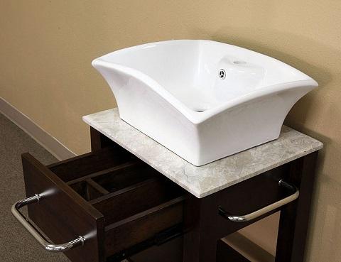 """24.2"""" Solid Wood Bathroom Vanity 203115 from Bellaterra Home"""