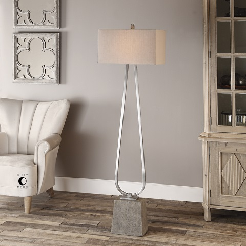 Carugo Polished Nickel Floor Lamp 28724 from Uttermost