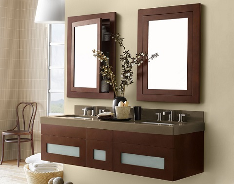 Contempo Wood Framed Recessed Medicine Cabinet 618125 from RonBow