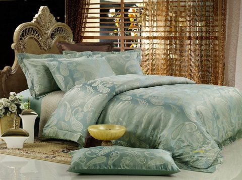 Emanuela King Size 6 Piece Jacquard Cotton Bedding Set DM447K from Dolce Mela