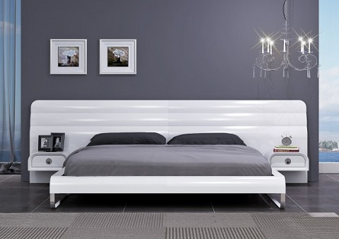 Liquido King Panel Bed BWK1215 from Whiteline Imports